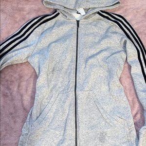 Women's small adidas zip up hoodie soooo cute